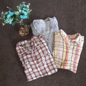 Old Navy plaid longsleeve shirts bundle